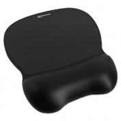Gel Mouse Pad w/Wrist Rest, Nonskid Base, 8-1/4 x 9-5/8, Black
