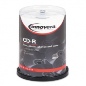 CD-R Discs, Hub Printable, 700MB/80min, 52x, Spindle, Matte White, 100/Pack