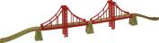 """Bigjigs Wooden Expansion Train Track 110cm/43"""" Long Double Suspension Bridge"""