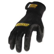Cut Resistant Stainless Steel, Nylon-Mesh Gloves, 1 Pair, Black, Large