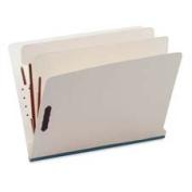 Six-Section End Tab Classification Folders, Pressboard, Letter, Red, 25/Box