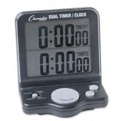 Dual Timer/Clock w/Jumbo Display, LCD, 3 1/2 x 1 x 4 1/2