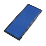Display System Optional Header Panel, Fabric, 24 x 10, Blue/Gray/Black PVC Frame