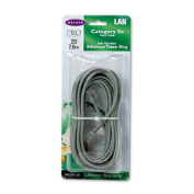 CAT5e Snagless Patch Cable, RJ45 Connectors, 25 ft., Gray