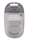 Cat5 RJ45 Inline Cable Coupler, White