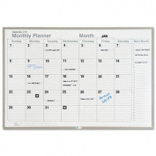 Magna Visual ML341 Monthly Planning Board Porcelain-On-Steel 48 x 36 Grey