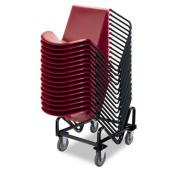 Hon 4033T GuestStacker Cart 21-3/8 x 35-1/2 x 37-7/8 Black