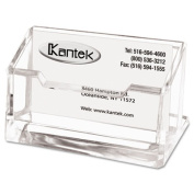Kantek AD30 Acrylic Business Card Holder Capacity 80 Cards Clear