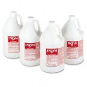 Big D Industries 500 Enzym D Digester Liquid Deodorant- Lemon- 32 oz.- 12/Carton