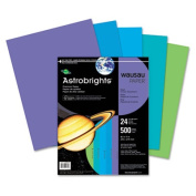 Wausau Paper 20274 Astrobrights Colored Paper- 24lb- 8-1/2 x 11- Cool Assortment- 500 Sheets/Ream