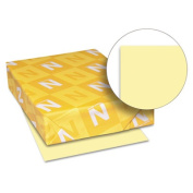 Neenah Heavyweight Exact Index Card Stock, 22cm x 28cm , 41kg., Canary, Pack Of 250 Sheets