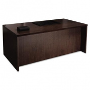 Mira Series Wood Veneer Straight Front Desk, 72w x 36d x 29-1/2h, Espresso