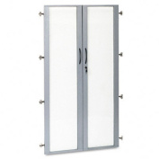 Doors For Wall Cabinet, Glass, 36w x 68h, 2/Set