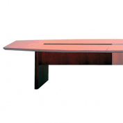 Corsica Conference Series 6' Starter Modular Table Base, Mahogany