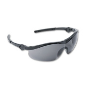 Storm Wraparound Safety Glasses, Black Nylon Frame, Grey Lens