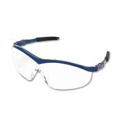 Storm Wraparound Safety Glasses, Navy Nylon Frame, Clear Lens