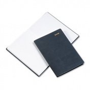Leatherlike Journal, Black Polyurethane Cover, 160 Pages, 5 1/2 x 7 3/4