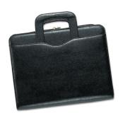 Avalon Leatherlike Vinyl Attache Organizer Starter Set, 8-1/2 x 11, Black