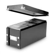 Snap-N-Store CD Storage Box, 13.25 x 13cm x 13cm , Black