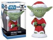 Star Wars Holiday Yoda Mini Bobble Head