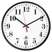 Chicago Lighthouse ILC67300002 Wall Clock- White Dial Face- Clear Crystal- 12-.75in.- Black