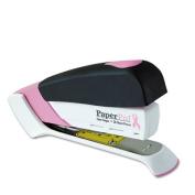 Pink Ribbon Desktop Stapler, 20-Sheet Capacity, Black/Pink