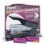 Heavy-Duty Stapler, 60-Sheet Capacity, Black/Silver