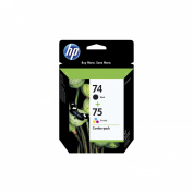 HP 74/ 75 Combo Pack Inkjet Print Cartridges - Black/ Tri-color
