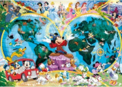 Disney World Map 1000 Piece Jigsaw Puzzle Featuring the entire Disney Family