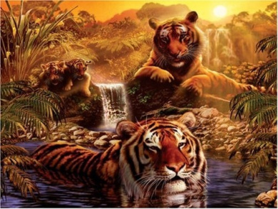 Ravensburger - At the Water Hole 2000 Piece Jigsaw Puzzle