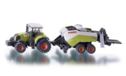Siku 1:87 Claas Axion Tractor W/Round Baler