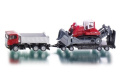 Siku 1854 Model Lorry with Trailer and Bulldozer Assorted Colours