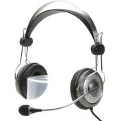 Genius HS-04SU (noise-cancelling microphone) Headband headset with Noise-cancelling microphone. In-line volume control.