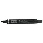 Pentel N50 Permanent Marker Bullet Tip 152mm Line Black Ref N50A Pack 12