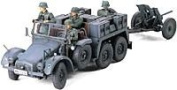 Krupp Protze, 6x4 Kfz.69 Towing Truck With 3.7cm Pak - 1:35 Scale Military - Tamiya