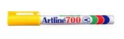 Artline 700 Fine Bullet 0.7mm  Yellow BX12
