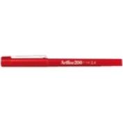 Artline 200 - 0.4mm  Red BX12