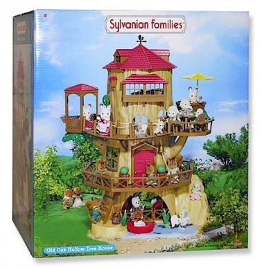 Sylvanian Families The Old Oak Hollow Treehouse Furniture And Figures Not Included By