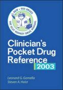 Clinician's Pocket Drug Reference