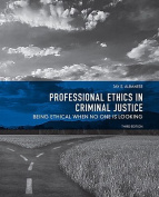Professional Ethics in Criminal Justice