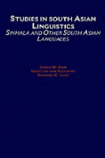 Studies in South Asian Linguistics