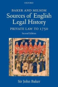 Baker and Milsom Sources of English Legal History