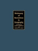 Dictionary of Quotations in Geography