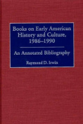 Books on Early American History and Culture, 1986-1990