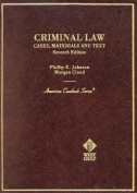 Johnson Criminal Law 7th Ed