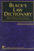 Black's Law Dictionary:Abridged