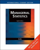 Managerial Statistics, International Edition