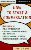 How to Start A Conversation Cass # [Audio]