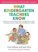 What Kindergarten Teachers Know