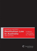 Mason and Carter's Restitution Law in Australia